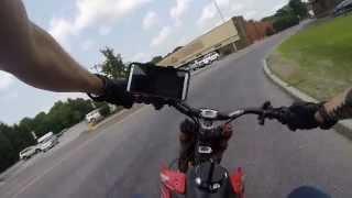 getlinkyoutube.com-Pirate Cycles Motoped w 146cc Semi Auto Race Motor