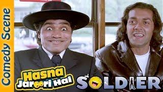 Johnny Lever Best Comedy Scene - Hasna Zaroori Hai - Soldier - Indian Comedy