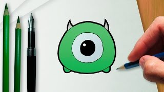 getlinkyoutube.com-How to draw Mike Wazowski Disney Tsum Tsum version