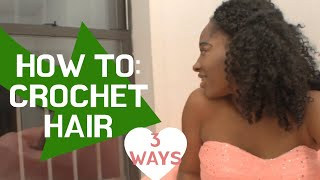 getlinkyoutube.com-HOW TO: 3 Crochet hair techniques