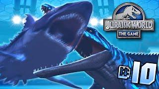 getlinkyoutube.com-Mosasaur Vs Megalodon!! || Jurassic World - Lagoon Series - Ep 10 HD