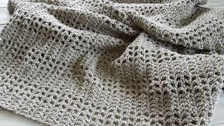 getlinkyoutube.com-(crochet) How To - Crochet an Afghan/Baby Blanket/Throw - Yarn Scrap Friday