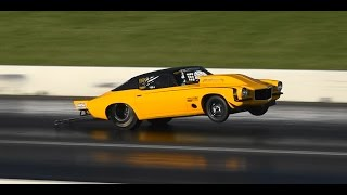 getlinkyoutube.com-OUTLAW 10.5 WHEELSTANDING 6 SEC PASSES AT ROUND 7 SYDNEY DRAGWAY 14.9.2014