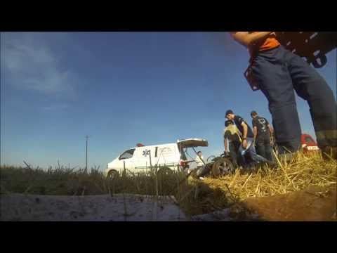 Resgate Acidente capotamento trator 777 Equipe Badboy Iruña Iruna 20/10/2013