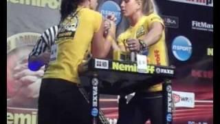getlinkyoutube.com-Viktoriia Iliushyna vs. Sarah Bäckman - Women Right -65 kg - Nemiroff 2010
