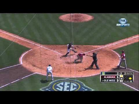 05/23/2013 Alabama vs Mississippi Baseball Highlights