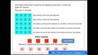 getlinkyoutube.com-Test psychotechnique mastemind ou carré logique explication vidéo