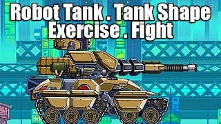 getlinkyoutube.com-Robot Tank - Tank Shape - Installation Pieces - Exercise - Fight - GamePlay - HD