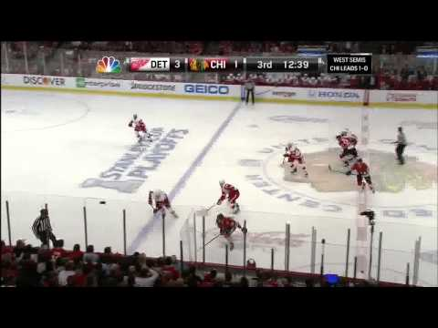 Johan Franzen wicked wrister 3-1 May 18 2013 Detroit Red Wings vs Chicago Blackhawks NHL Hockey