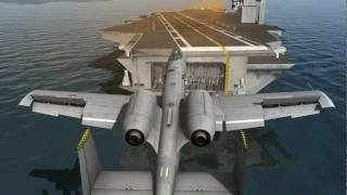 DCS: A-10C Carrier Landing