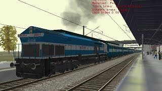 getlinkyoutube.com-(MSTS) Indian Railways Lucknow Mail WDP4 arrival and departure