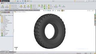 getlinkyoutube.com-SolidWorks Tutorial   Forklift 7. Tyre