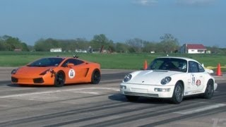 getlinkyoutube.com-1300hp TT Porsche vs THREE 1550hp TT Lambos and a 1200hp TT Viper!
