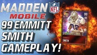getlinkyoutube.com-99 EMMITT SMITH GAMEPLAY! - Madden Mobile 16