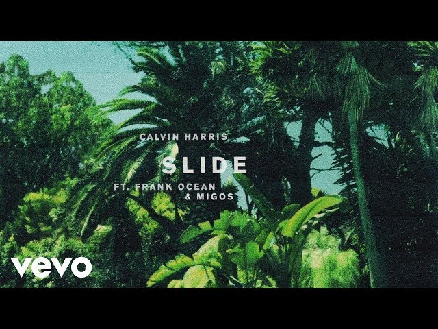 SLIDE - CALVIN HARRIS FT FRANK OCEAN & MIGOS  karaoke version ( no vocal ) lyric instrumenta