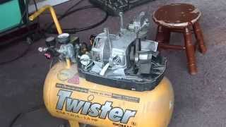 getlinkyoutube.com-Air compressor conversion using a refrigerator compressor