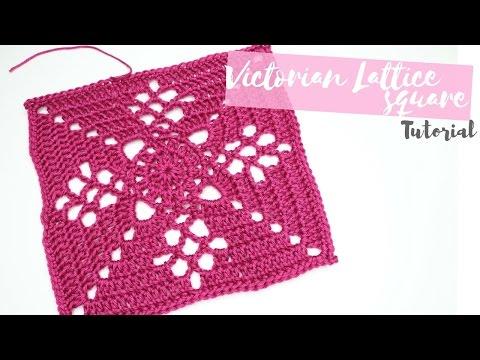 CROCHET: Victorian Lattice Square tutorial | Bella Coco