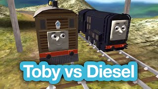 getlinkyoutube.com-Toby the Tram Engine vs Diesel in a race | Thomas & Friends - Thomas the Tank Engine