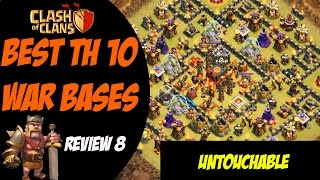 getlinkyoutube.com-Strongest TH10 Base Post Summer Update! | Best TH10 War Base Design #8 | Clash of Clans