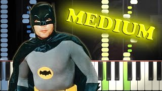 BATMAN THEME - Piano Tutorial width=