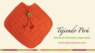 getlinkyoutube.com-Dos agujas y crochet:  poncho tejido de dos cuadrados (Parte 1)