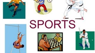 Names of sports and games for preschool children, sports flash cards