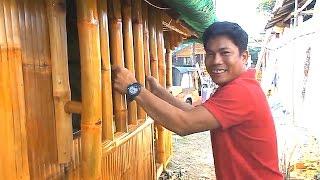 getlinkyoutube.com-Bamboo Security Bars On A Bahay Kubo- Cris Bamboo Philippines
