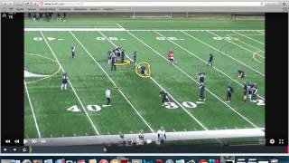 Roy Concept RPO Drill (narrated)-  St.  Anselm College - Pat Murphy