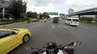 getlinkyoutube.com-Afternoon ride in BKK with NC750X DCT
