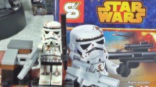 getlinkyoutube.com-sy 스타워즈 샌드 트루퍼(Sand Trooper) 클론 레고 짝퉁 군인 미니피규어 조립기