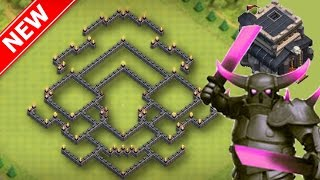 getlinkyoutube.com-New BEST Th9 Trophy/War Base | TragiX Gam3r - Anti-2 Star - Bomb Tower - December 2016