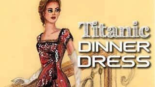 getlinkyoutube.com-Dinner Dress TITANIC | Fashion Illustration | Fashion ARTVentures