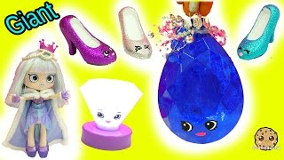 getlinkyoutube.com-DIY Limited Edition Shopkins Inspired Gemstone, Light Up Diamond & Lipgloss Shoes - Painting Video