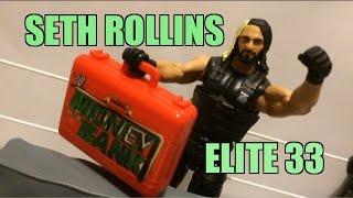 getlinkyoutube.com-WWE ACTION INSIDER: Seth Rollins Elite series 33 Mattel Wrestling Figure Review MR MITB SHIELD