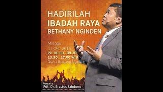 getlinkyoutube.com-Pdt Erastus Sabdono - Bethany Nginden Surabaya 20151011