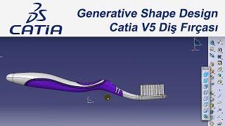 getlinkyoutube.com-Catia V5 Eğitim Diş Fırçası (#46) Tutorial Toothbrush Generative Shape Design