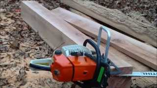 getlinkyoutube.com-Homesteading: Milling Lumber With The Timberjig Chainsaw Mill