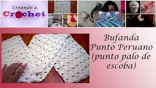 getlinkyoutube.com-Bufanda en Punto Peruano (punto palo de escoba) - Tutorial de tejido crochet
