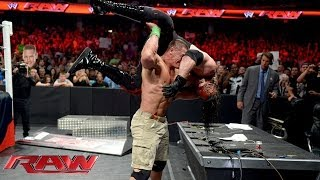 getlinkyoutube.com-John Cena vs. Kane - Stretcher Match: Raw, June 17, 2014