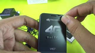 micromax 4g mobile v407 bharat 1 unboxing width=