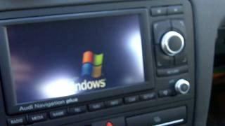 Audi RNS-E injected with CAR PC + Touchscreen