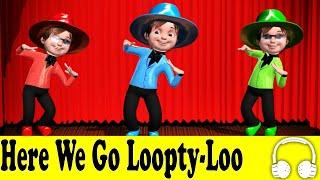 getlinkyoutube.com-Here We Go Loopty-Loo | Family Sing Along - Muffin Songs