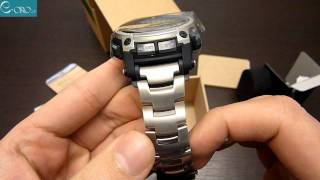 getlinkyoutube.com-CASIO Protrek Titanium Mens Watch PRW-5000T-7ER - E-oro.gr