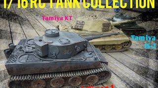 getlinkyoutube.com-1/16 RC Tank Collection - Heng Long Metal Tiger 1 & Tamiya JS-2/King Tiger HD