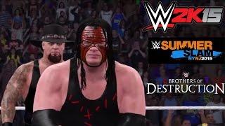 WWE 2K15 Custom Scenario: Masked Kane returns & helps Undertaker beat Brock Lesnar Summerslam 2015