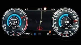 getlinkyoutube.com-New VW Passat B8 2015 2,0 BiTDI - acceleration 0-210 km/h, digital dashboard