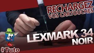 getlinkyoutube.com-Cartouche Lexmark 34 Noire : Comment Recharger La Cartouche d'Encre