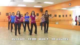 getlinkyoutube.com-Throw Away The Key - Line Dance (Dance & Teach in English & 中文)