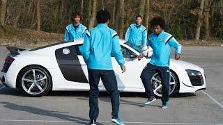 getlinkyoutube.com-Hazard, Willian, Ake and Remy take on the Audi challenge…