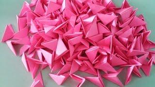 getlinkyoutube.com-3d origami pieces - Gấp miếng ghép origami 3d -  poppy9011
